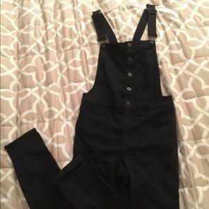 H&M Black Skinny Leg Overalls